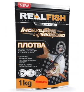 "РЫБОЛОВНАЯ ПРИКОРМКА Realfish ""ПЛОТВА"" Мотыль NEW!"