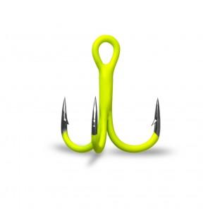 Крючок тройник GURZA (флуоресцентный салатовый)