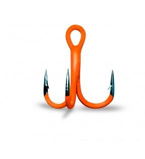 Крючок тройник GURZA (флуоресцентный оранжевый)