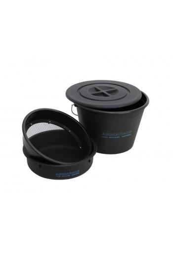 Ведро с крышкой для прикормки + таз + сито Flagman Armadale Bucket Set With Plastic Riddle 25л