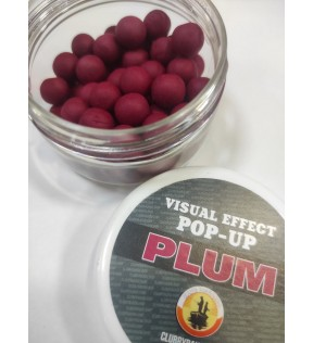 Бойлы POP-UP пылящие Plum (Слива) d.8mm