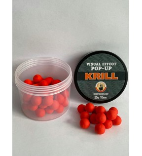 Клуб Рыбаков Бойлы POP-UP пылящие со вкусом Krill d.10mm