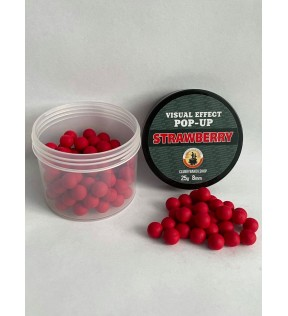 Клуб Рыбаков Бойлы POP-UP пылящие со вкусом Strawberry d.8mm