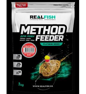 Прикормка Real Fish Premium Series Method Feeder FruitMix Фруктовый Микс 0.8kg